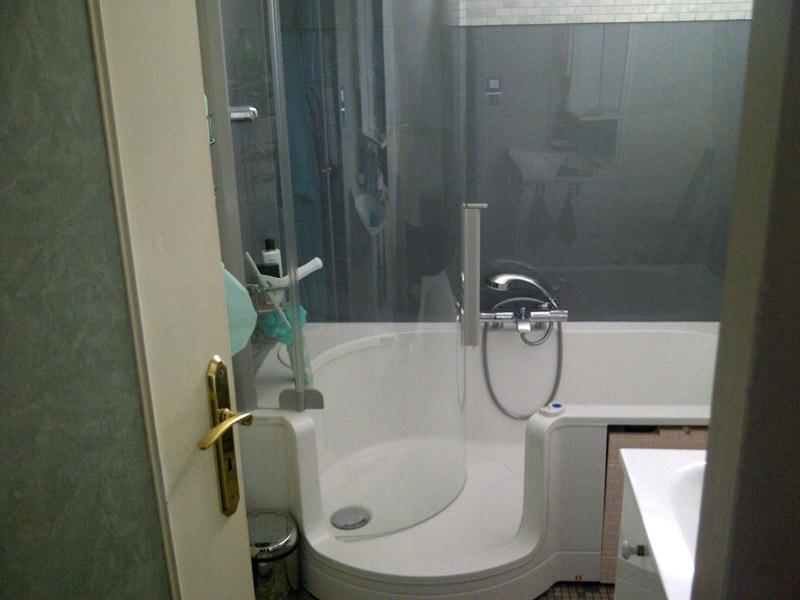 Exemples de combins bain douche twinline classic - Combine salle de bain ...